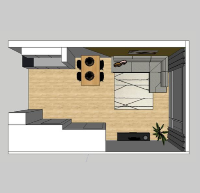 Interieurontwerp woonkamer Zegveld 3